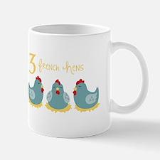 3 French Hen Mugs
