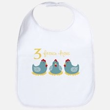 3 French Hen Bib