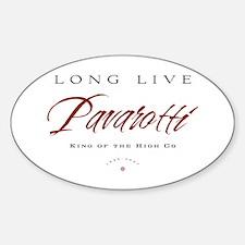 Pavarotti Oval Decal