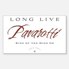 Pavarotti Rectangle Decal