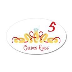 5 Golden Rings Wall Decal