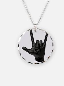 devil horns hand Necklace