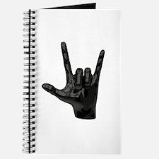 devil horns hand Journal
