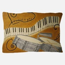 salsa painting with timbales and piano Pillow Case