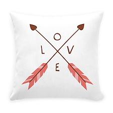 Love Heart Arrows Everyday Pillow