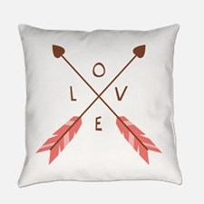 Love Heart Arrows Everyday Pillow