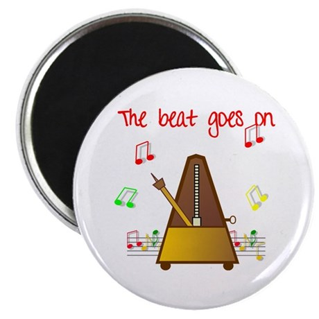 """The Beat Goes On 2.25"""" Magnet (100 pack)"""