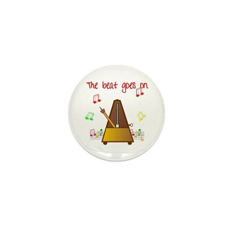 The Beat Goes On Mini Button (10 pack)
