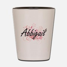 Abbigail Artistic Name Design with Flow Shot Glass