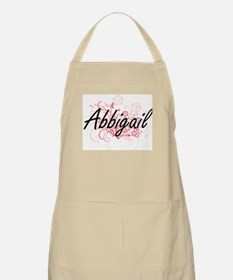 Abbigail Artistic Name Design with Flowers Apron