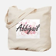 Abbigail Artistic Name Design with Flower Tote Bag