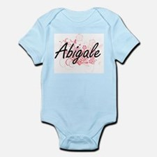 Abigale Artistic Name Design with Flower Body Suit