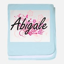 Abigale Artistic Name Design with Flo baby blanket
