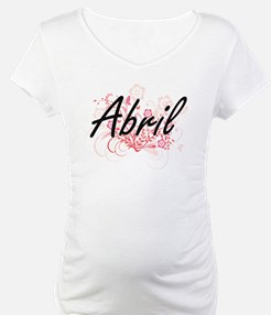 Abril Artistic Name Design with Shirt