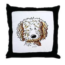 Goldendoodle Dog Throw Pillow