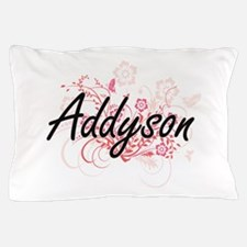 Addyson Artistic Name Design with Flow Pillow Case