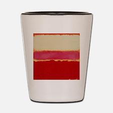 ROTHKO WHITE RED PINK Shot Glass