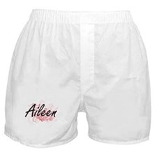 Aileen Artistic Name Design with Flow Boxer Shorts