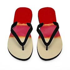 ROTHKO WHITE RED PINK Flip Flops