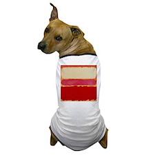 ROTHKO WHITE RED PINK Dog T-Shirt