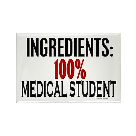 Ingredients: Medical Student Rectangle Magnet (10