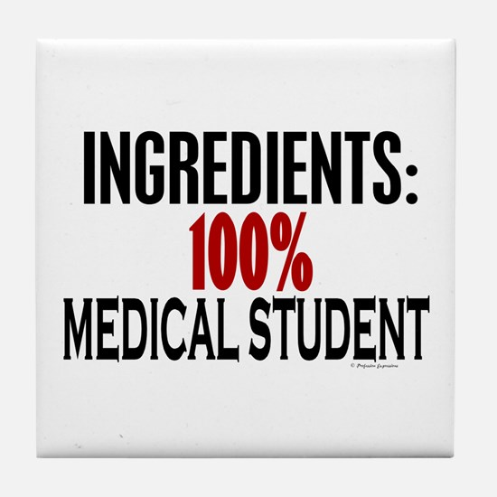 Ingredients: Medical Student Tile Coaster