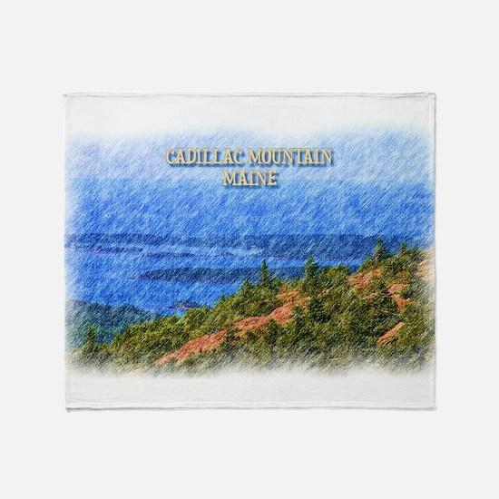 Cadillac Mountain, Maine Throw Blanket