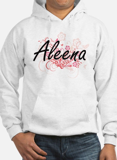 Aleena Artistic Name Design with Hoodie Sweatshirt