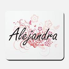 Alejandra Artistic Name Design with Flow Mousepad