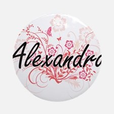 Alexandra Artistic Name Design with Round Ornament