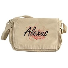 Alexus Artistic Name Design with Flo Messenger Bag