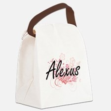 Alexus Artistic Name Design with Canvas Lunch Bag