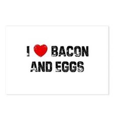 I * Bacon And Eggs Postcards (Package of 8)