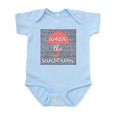 Wear The Sunscreen Infant Bodysuit