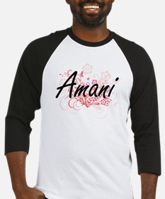 Amani Artistic Name Design with Fl Baseball Jersey
