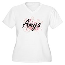 Amya Artistic Name Design with F Plus Size T-Shirt