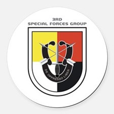 3rd Special Forces Group Round Car Magnet