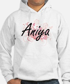 Aniya Artistic Name Design with Hoodie Sweatshirt