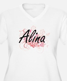 Alina Artistic Name Design with Plus Size T-Shirt