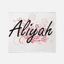 Aliyah Artistic Name Design with Flo Throw Blanket