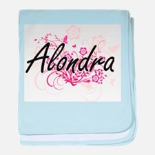Alondra Artistic Name Design with Flo baby blanket