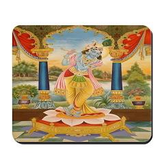 Krishna On Lotus Blossom Mousepad