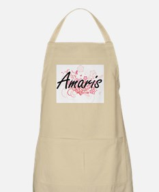 Amaris Artistic Name Design with Flowers Apron