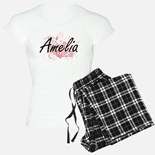 Amelia Artistic Name Design Pajamas
