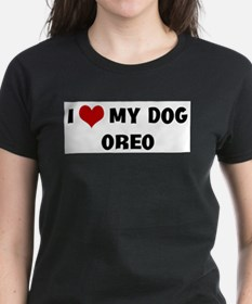 I Love My Dog Oreo T-Shirt