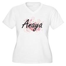 Anaya Artistic Name Design with Plus Size T-Shirt