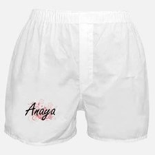 Anaya Artistic Name Design with Flowe Boxer Shorts