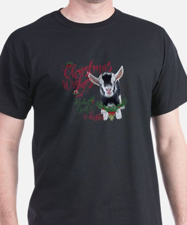 Christmas Wishes Baby Goat Kisses - P T-Shirt