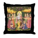 Colorful art Throw Pillows