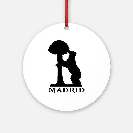 madrid orso bear Round Ornament